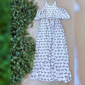 Rebecca Minkoff Gray Floral Mindy Maxi Dress